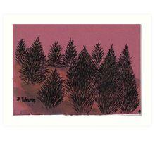 Amoung the pines Art Print