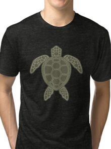 Green Sea Turtle Design Tri-blend T-Shirt