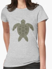 Green Sea Turtle Design Womens Fitted T-Shirt