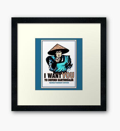 I Want YOU For Kombat Framed Print