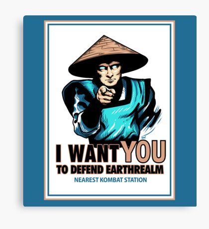 I Want YOU For Kombat Canvas Print