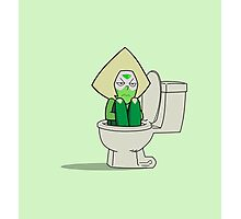 Steven Universe - Peridot in the Toilet Photographic Print