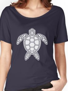 Green Sea Turtle Design - White Women's Relaxed Fit T-Shirt