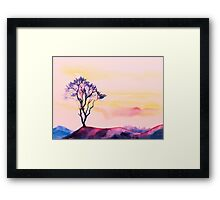 At peace with solitude Framed Print