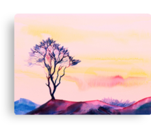 At peace with solitude Canvas Print