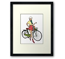 Agyness Deyn Cartoon Tshirt Framed Print