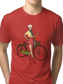 Agyness Deyn Cartoon Tshirt Tri-blend T-Shirt