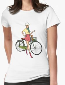 Agyness Deyn Cartoon Tshirt Womens Fitted T-Shirt