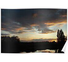 Train sunset Poster