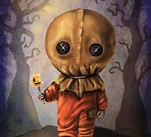 Sam Trick 'R Treat Halloween by DianaLevinArt