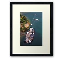 USS Arizona and USS Missouri Framed Print
