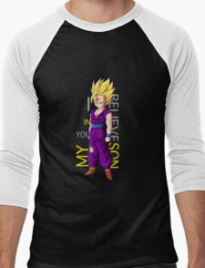 gohan super saiyan i believe in you my son anime manga shirt Men's Baseball ¾ T-Shirt
