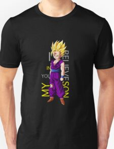 gohan super saiyan i believe in you my son anime manga shirt Unisex T-Shirt