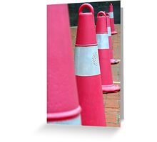 Road Cones Greeting Card