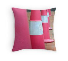 Road Cones Throw Pillow