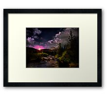 Sparks Lake and the Three Sisters Framed Print