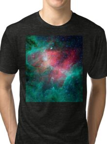 Teal, Pink, Eagle Nebula, astrophysics, astronomy, space Tri-blend T-Shirt