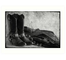 Black leather Art Print