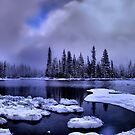 Cold Snow at Big Lake by Charles &amp; Patricia   Harkins ~ Picture Oregon