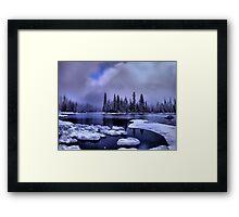 Cold Snow at Big Lake Framed Print