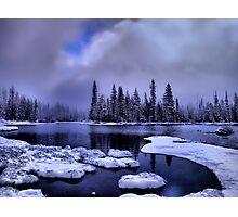 Cold Snow at Big Lake Photographic Print