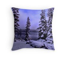Big Lake Winters Day Throw Pillow
