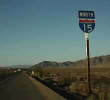 Driving north on Interstate 15, California by Chris Bentley