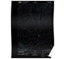 USGS Topo Map Washington Touchet 20110914 TM Inverted Poster