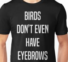 "Larry Stylinson ""BIRDS DON'T EVEN HAVE EYEBROWS"" Unisex T-Shirt"