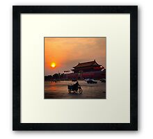 Sunset over the Forbidden City Framed Print