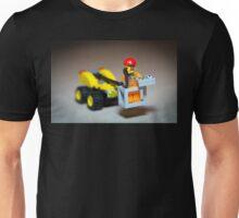Lego Worker on Lift Construction Unisex T-Shirt