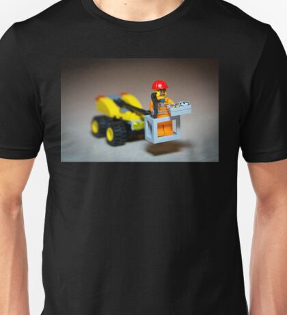 Lego Worker on Lift Construction Unisex T-Shirt