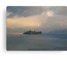 "Alcatraz ""A Beautiful But Lonely island"" Canvas Print"