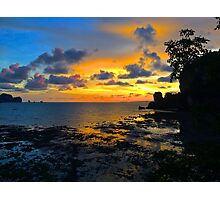 Sunset in Krabi Photographic Print