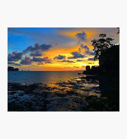 Sunset in Krabi Photographic Print