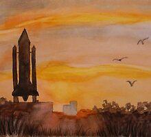 The Last Shuttle Ride by Warren  Thompson