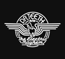 Dr.Teeth and the Electric Mayhem - Logo Design in WHITE by NoirGraphic