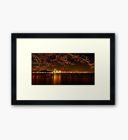 """""""City In Flame"""" Framed Print"""