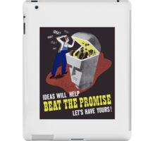 Ideas Will Help Beat The Promise -- WWII iPad Case/Skin