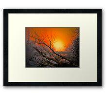 The Big Red Sun Framed Print
