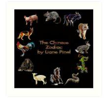 Chinese Zodiac - Complete by Liane Pinel Art Print