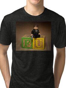 Frank Underwood on blocks with Gun Tri-blend T-Shirt