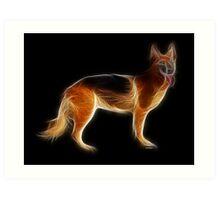 Dog - Chinese Zodiac by Liane Pinel Art Print