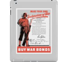 Make Your Own Declaration Of War -- WW2 iPad Case/Skin