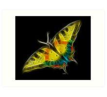 Medicine Wheel Totem Animals by Liane Pinel- Butterfly Art Print