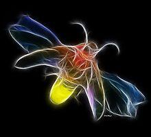 Medicine Wheel Totem Animals by Liane Pinel- Firefly by Liane Pinel