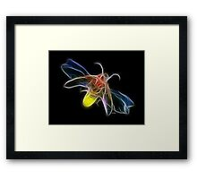 Medicine Wheel Totem Animals by Liane Pinel- Firefly Framed Print