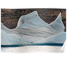 Great blue icebergs Poster