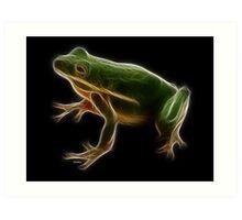Medicine Wheel Totem Animals by Liane Pinel- Frog Art Print
