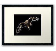 Medicine Wheel Totem Animals by Liane Pinel- Golden Eagle Framed Print
